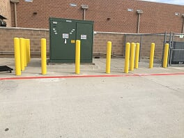 Bollards installed in your parking lot in Pine Hills, Florida